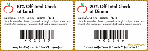 photograph about Sweet Tomatoes Printable Coupons known as Souplantation coupon 2019 march