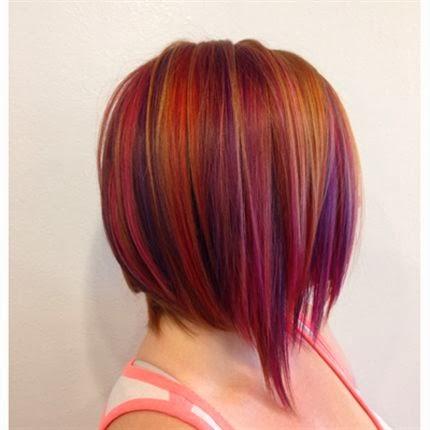 Olez Haircare Blog: Fall Hair Color, Plum & Raspberry Tone