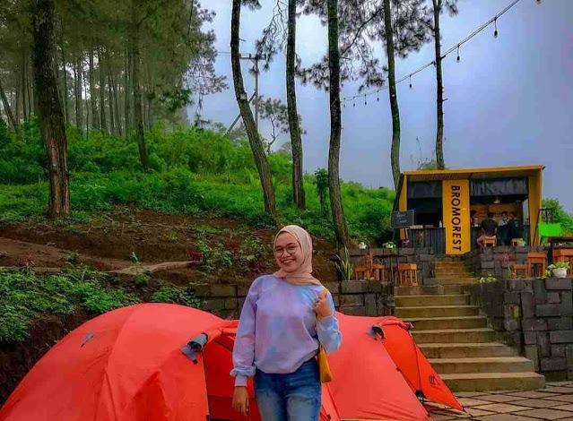 Bromo Rest, Kafe Kekinian Dengan Konsep Alam Pegunungan yang Dikelilingi Hutan Pinus