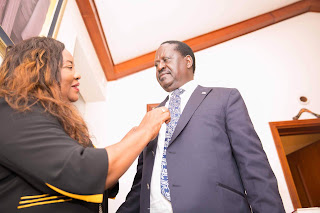 Ida Odinga with Raila Odinga. PHOTO | Courtsey