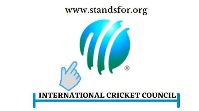 ICC-ICC Stand for International Cricket Council