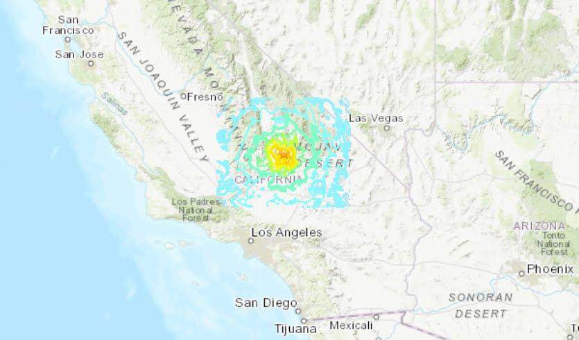 Violento Terremoto in California M6,4: il più forte Sisma negli ultimi 20 anni.