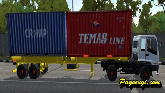 mod bussid truck isuzu ftr borneo trailer