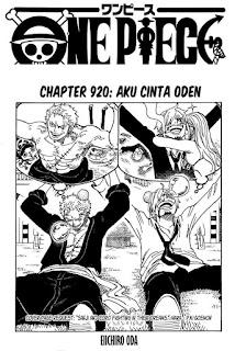 Update! Baca Manga One Piece Chapter 920 Full Sub Indo