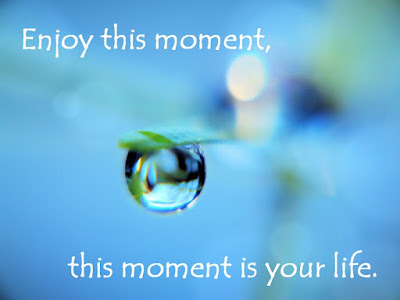 most beautiful enjoy this moment, this moment is your life.