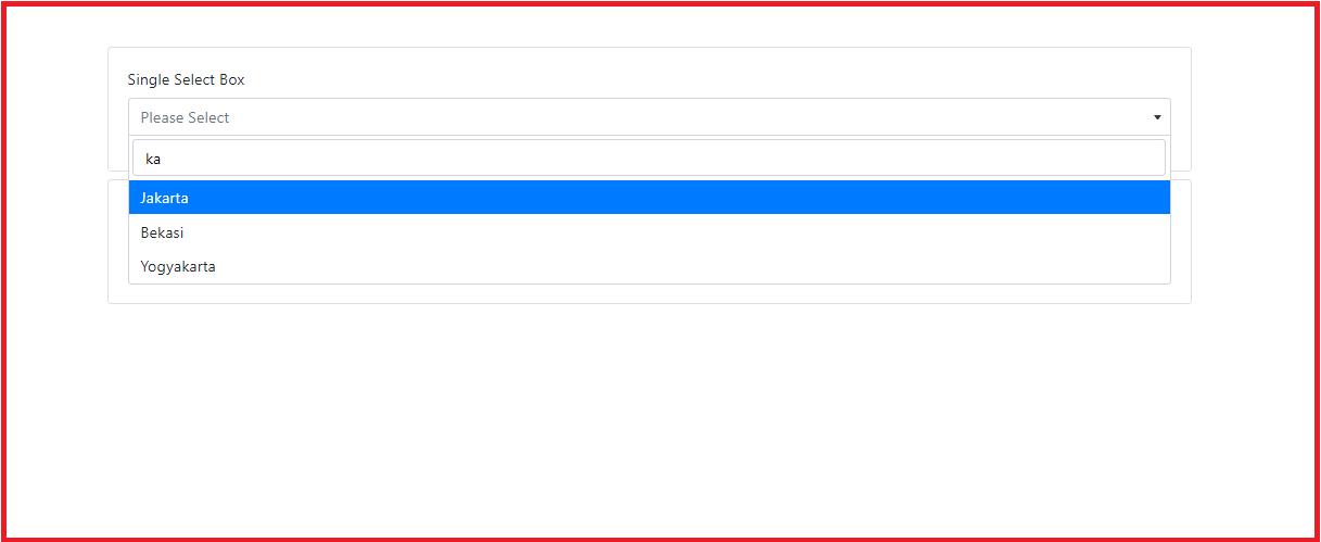 membuat pencarian dalam option select dengan select2
