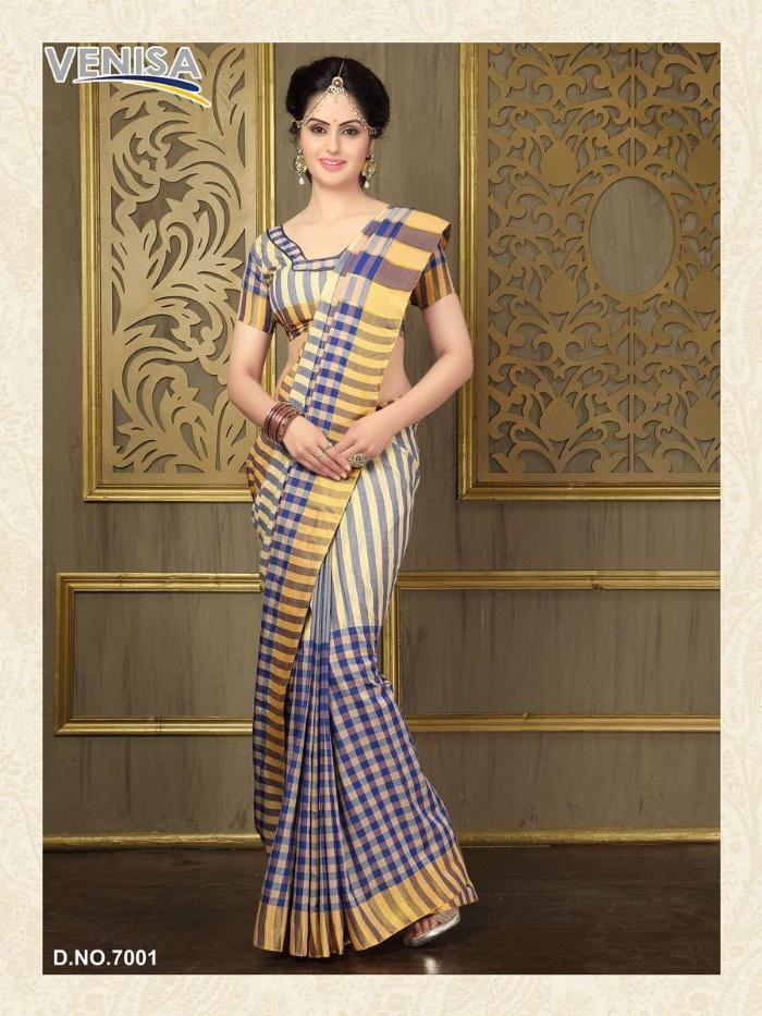 Nayantara Classic – Attaractive Printed Cotton Silk Saree