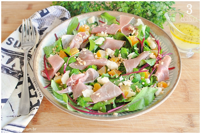 receita de salada de folha de beterraba