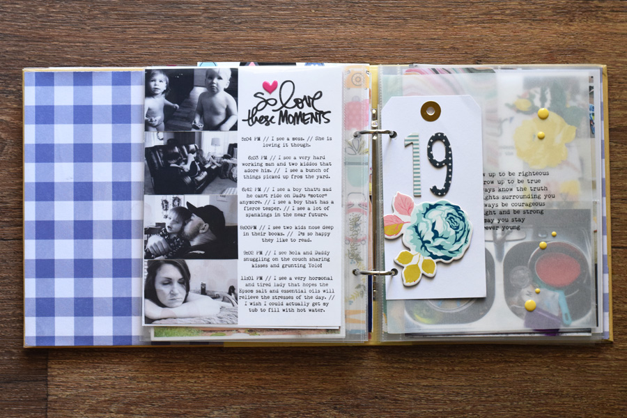 colorful scrapbook album