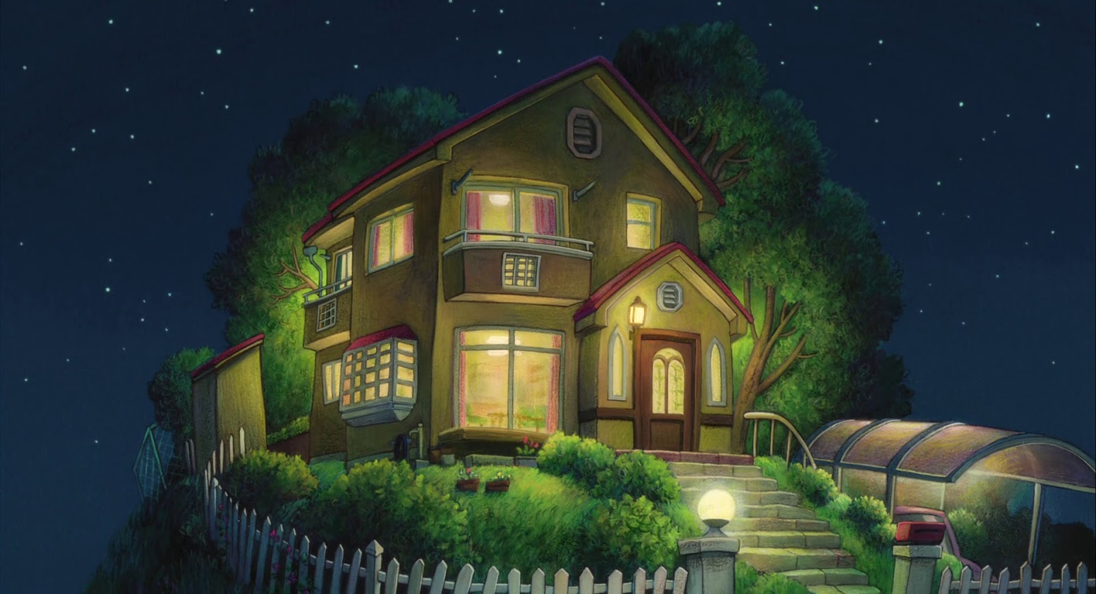 House from the movie ponyo ghibli anime background