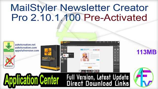MailStyler Newsletter Creator Pro 2.10.1.100 Pre-Activated