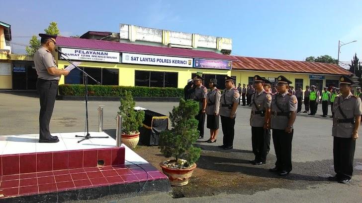 Kapolres Kerinci Pimpin Sertijab Sejumlah Perwira di Polres Kerinci