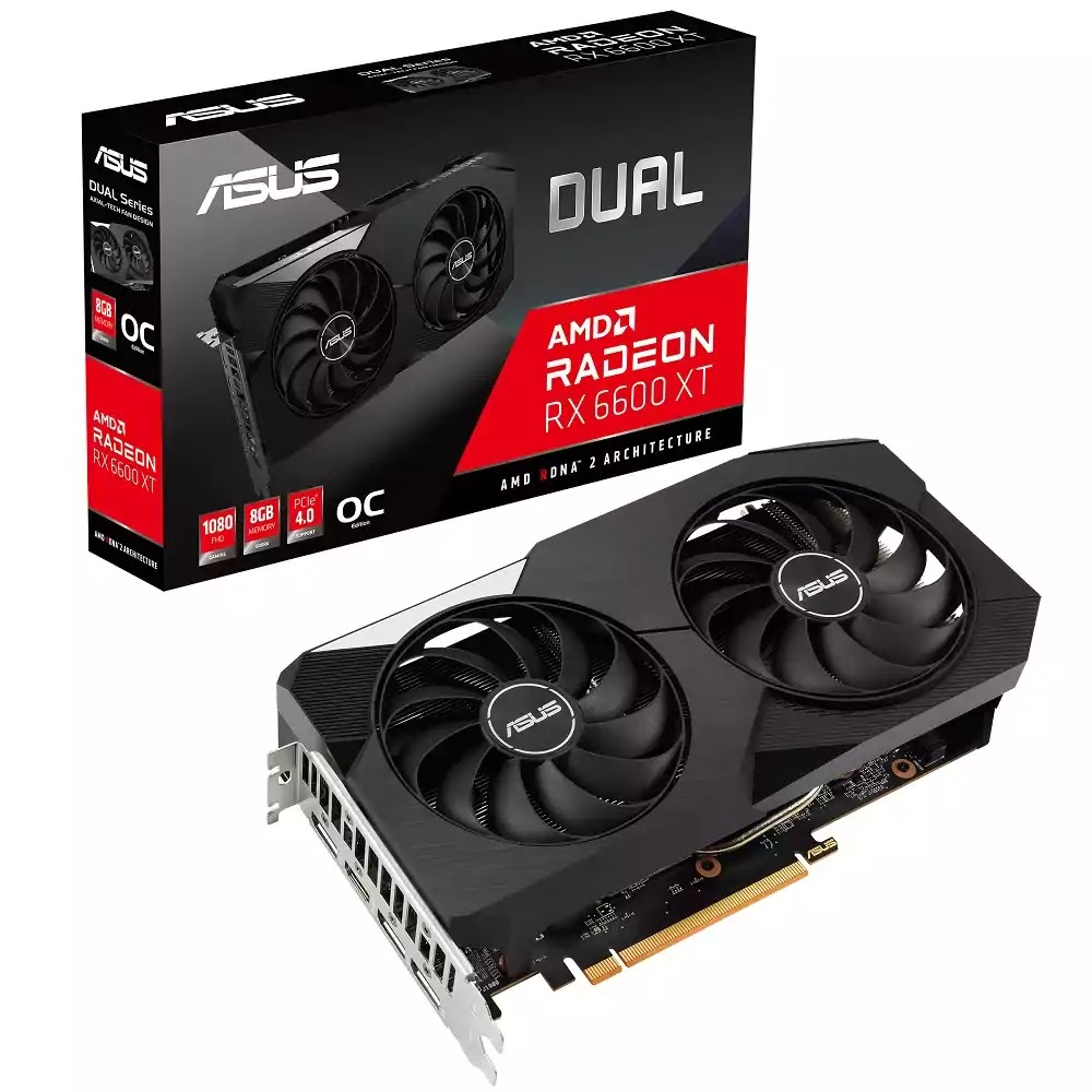 ASUS Dual AMD Radeon RX 6600 XT