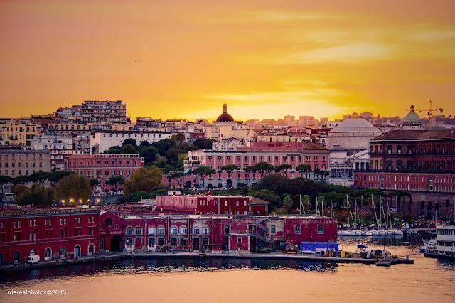 Napoli İtalya Gün Batımı
