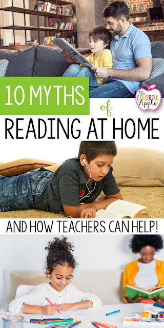 How can teachers can help students and parents read more at home?  10 tips to get families engaged in the reading process!