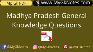 Madhya Pradesh General Knowledge Questions in Hindi PDF