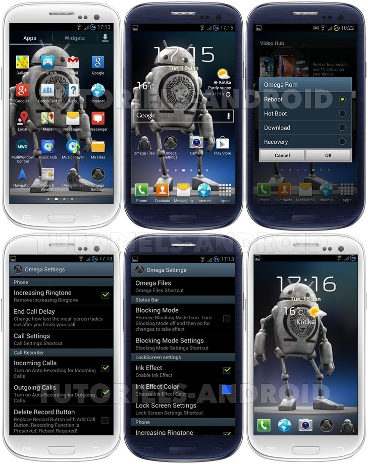 Captures Omega v44.3 pour GALAXY S3