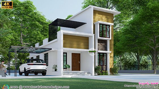 Small double storied 3 bedroom house rendering