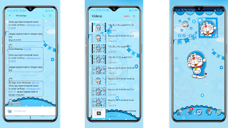 Sms, video, layar depan Tema Doraemon OPPO