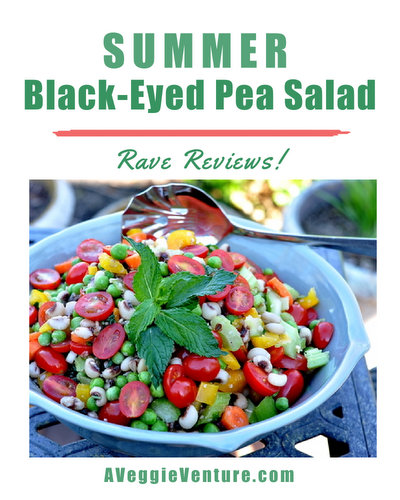 Summer Black-Eyed Pea Salad, another crowd-friendly salad ♥ AVeggieVenture.com