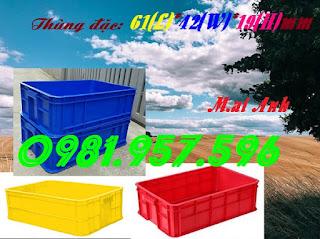 Sóng nhựa HS003, thùng nhựa đặc, thùng 1T9