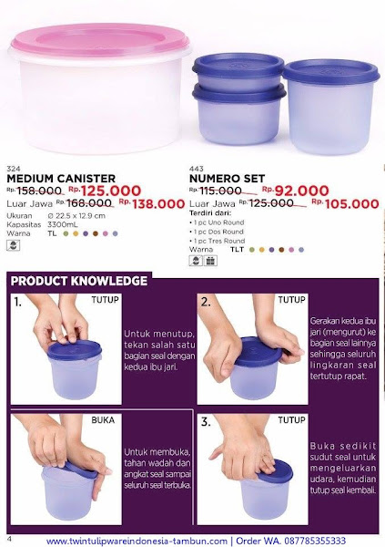 Promo Diskon Medium Canister, Numero Set November 2017