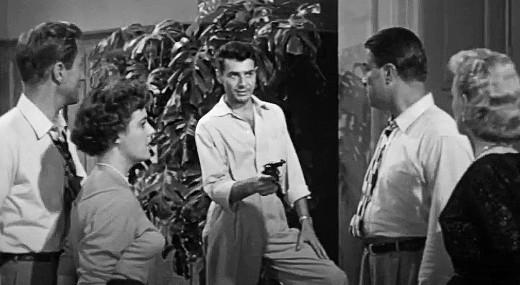 Robert Roark as the crazed gunman in Target Earth, 1954
