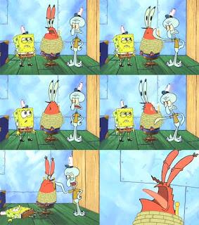 meme spongebob squidward nampol tuan krab