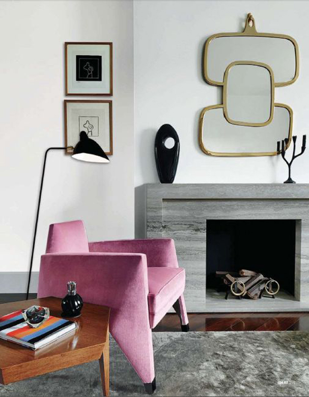 The Peak of Très Chic: Needing, Wanting, Loving: A Pink Sofa