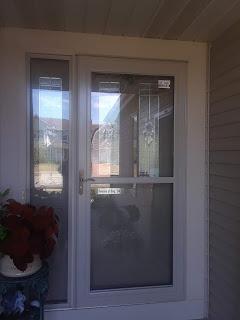 Storm door installation in Kenosha, WI