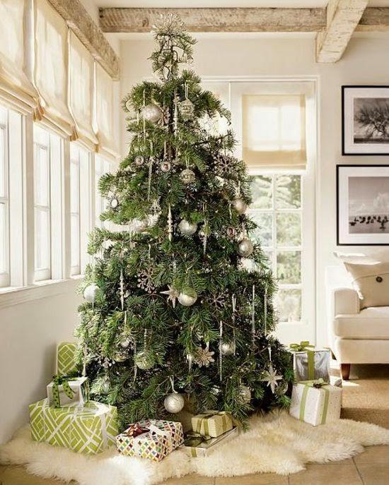 árbol navideño color plata