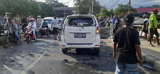 12 Orang dan 10 Kendaraan Jadi Korban Kecelakaan Beruntun Avanza Putih di Abepura
