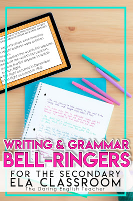 Writing and Grammar Bell-Ringers
