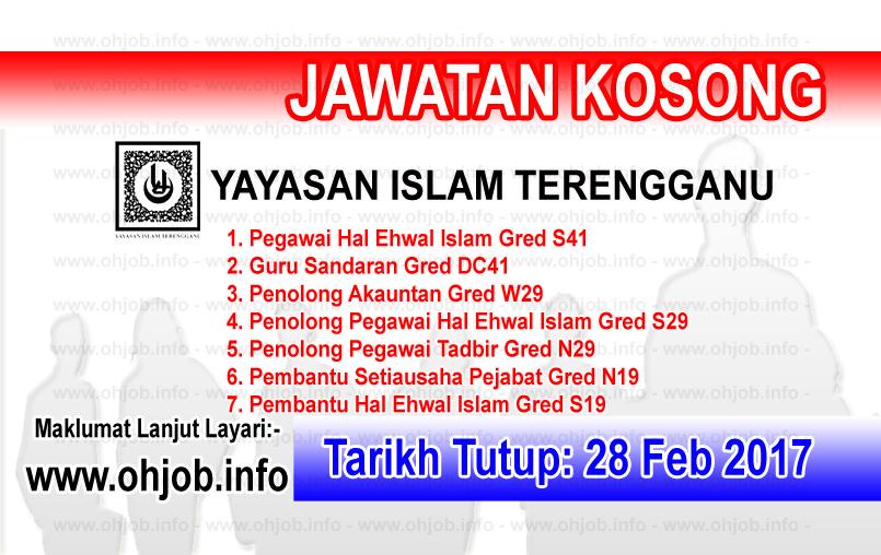 Jawatan Kerja Kosong YIT - Yayasan Islam Terengganu logo www.ohjob.info februari 2017