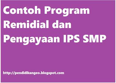 Contoh Program Remidial dan Pengayaan IPS SMP