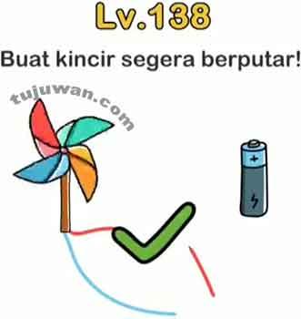 Please write down the correct answer. Brain Out Buat Kincir Segera Berputar Jawaban Brain Out Di Peringkat 138 Tujuwan Com