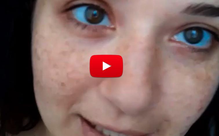 Danielita Alvarado acepta desafío y muestra su rostro destrozado sin pintura