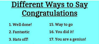 DIFFERENT WAYS TO SAY CONGRATULATIONS