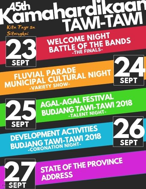 See you in Sitangkai for Agal-Agal Festival 2018, Kamahardikaan Sin Tawi-Tawi