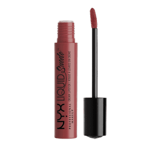 $1.83 at Amazon, NYX PROFESSIONAL MAKEUP Liquid Suede Cream Lipstick - Soft Spoken (Pink With Light Gold Iridescence)