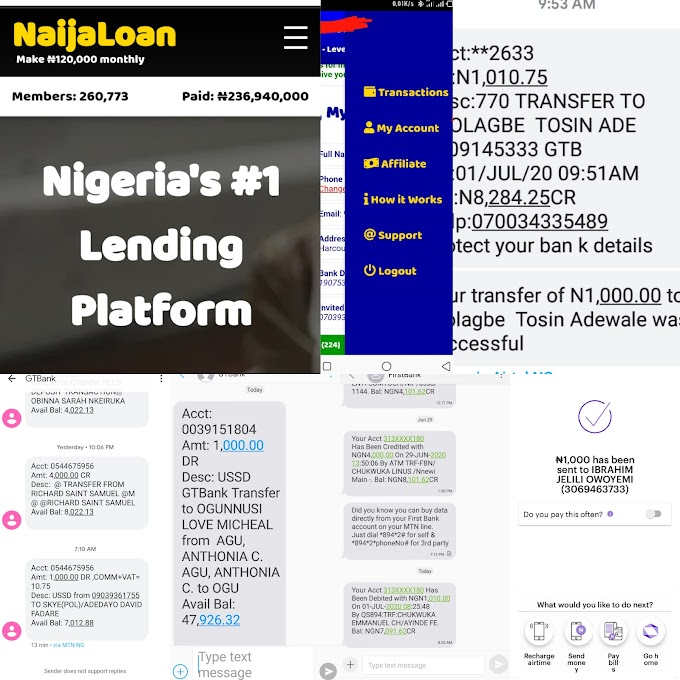 How to create account on Naijaloan - Make money with Naijaloan - All you should know about Naijaloan #Arewapublisize