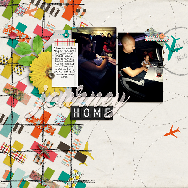 Digital Scrapbook Page by Liz: Journey Home