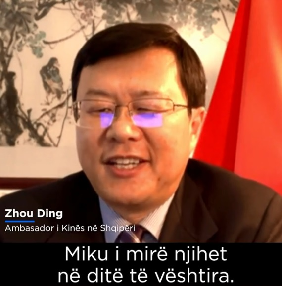 Chinese Ambassador: China will help Albania and the god friendship will be restored