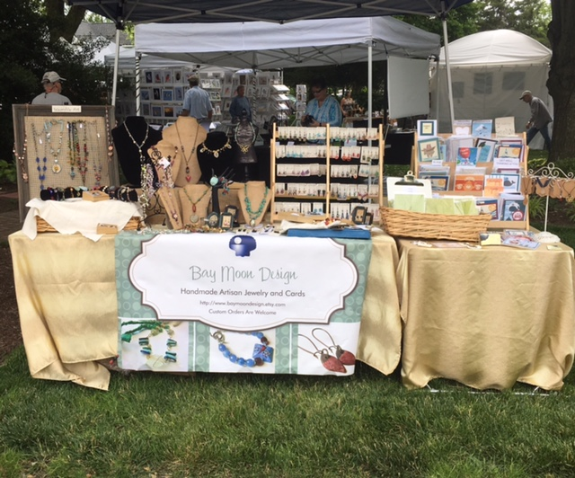 BayMoonDesign table at fine arts and craft show