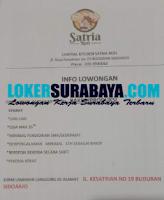 Info Lowongan Kerja di Central Kitchen Satria Roti Sidoarjo September 2020