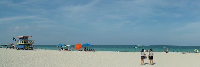 Las famosas arenas en la playa de Miami Beach