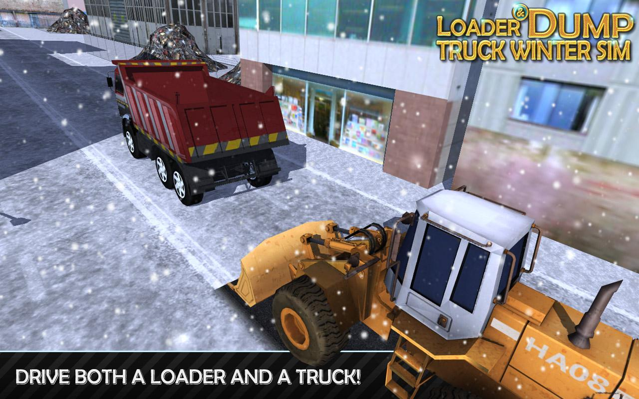 Loader Dump Truck Winter SIM MOD APK