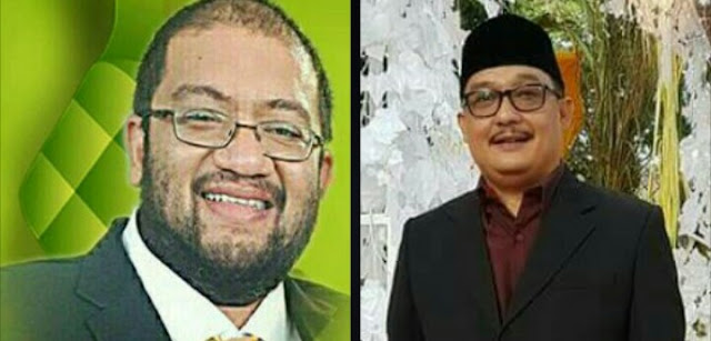 Ketua KNPI Simalungun Elka Nanda (kuri) dan Kabid Pemberitaan Infokom Asahan Arbin Tanjung.