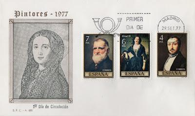 Sobres PDC de la serie Pintores dedicado a Federico Madrazo en 1977