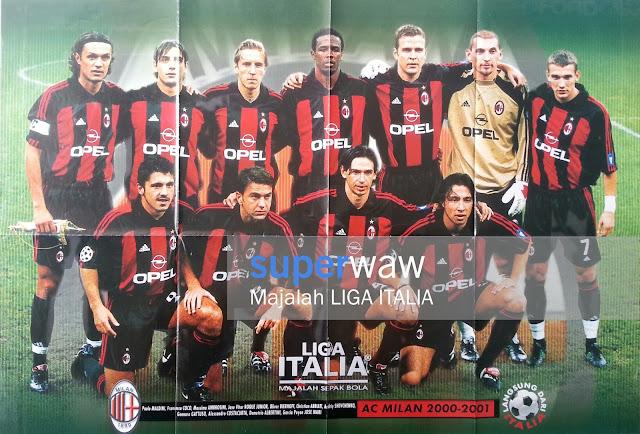 Poster AC Milan 2000/2001